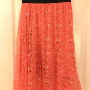 Pink lace overlay Lola skirt